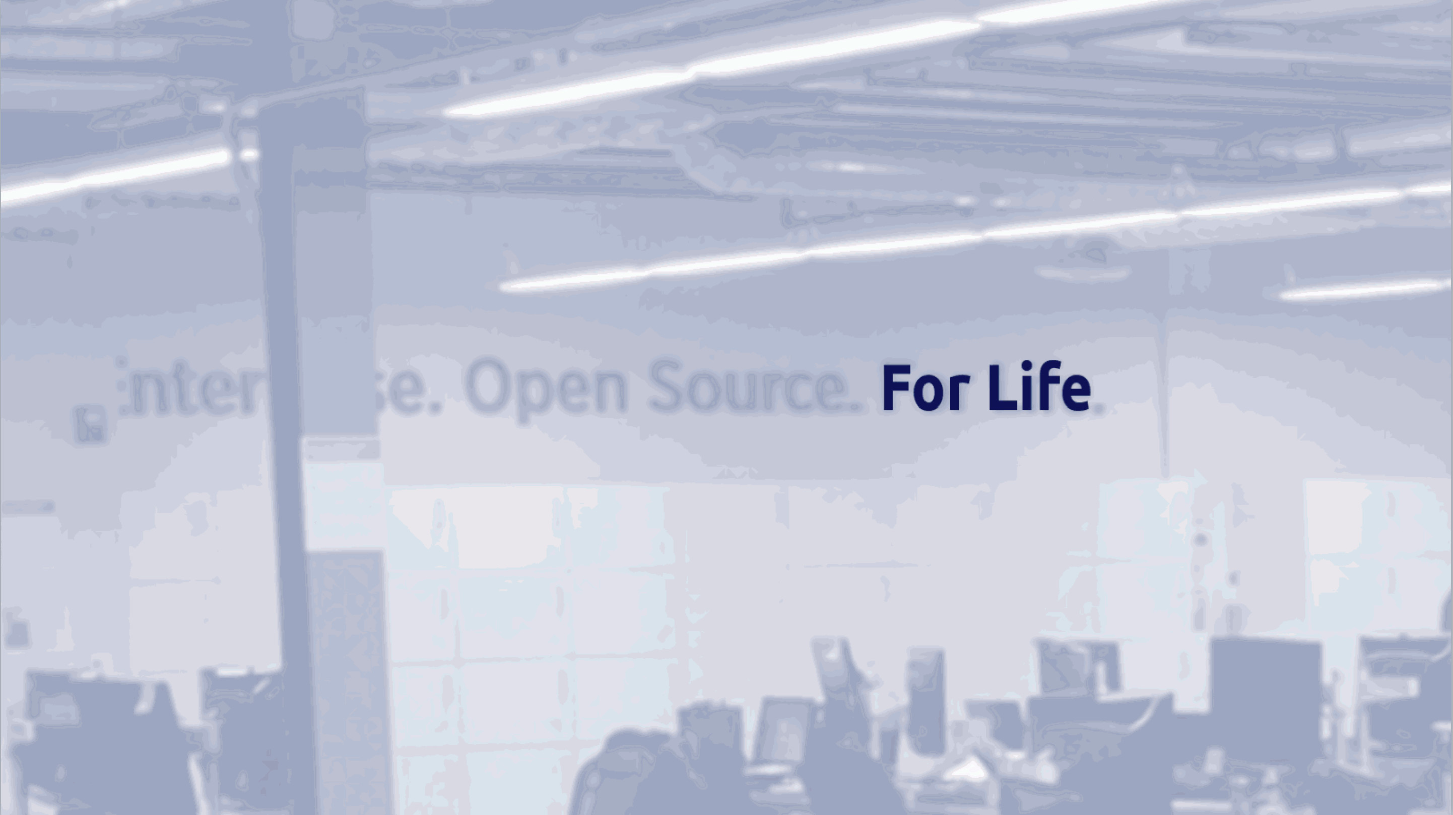 "Picture of Liferay's office with ""For Life"" sign highlighted"